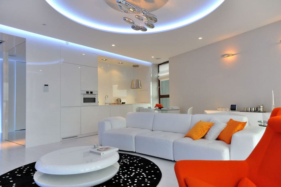 View In Gallery Stylish And Modern Apartment Livingroom 2