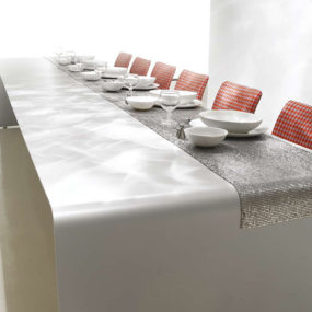 Modern Dining Table Decorating Idea by MDF Italia