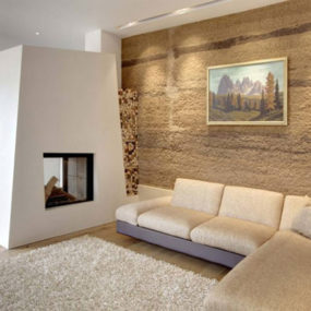 Unusual Central Fireplace Design