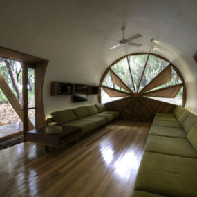 Tubular Home with a Fascinating Window