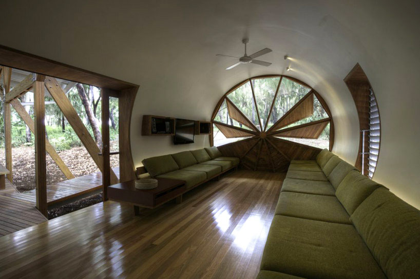 Tubular home with a fascinating window for Tubular window design