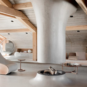 Ultra-modern Mountain Chalet, an unexpected Alpine ski retreat