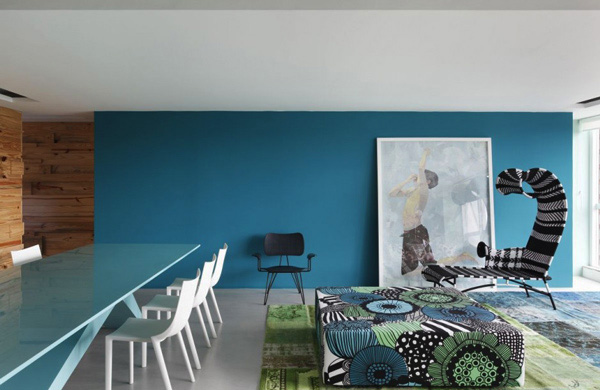 Cool Color Schemes - Open Living Room Interior