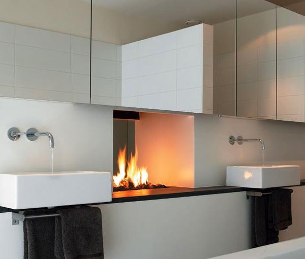 unique fireplace applications designs modus 1 Fireplace Between Two Rooms   Unique Design by Modus