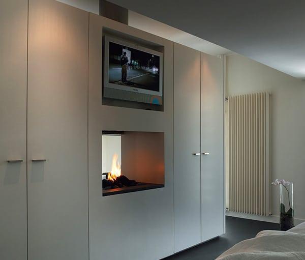 unique fireplace applications designs modus 2 Fireplace Between Two Rooms   Unique Design by Modus