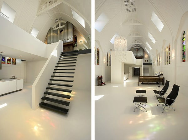 Unusual interior design converting a church for Unusual interior design