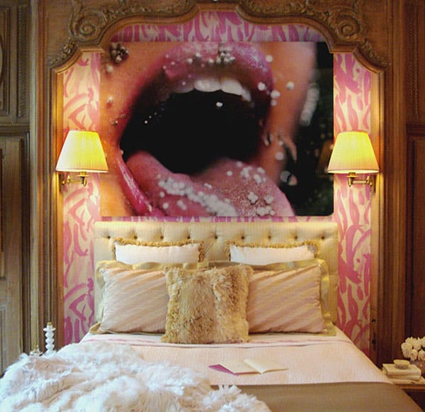 wall art headboard idea edgy graphic 1