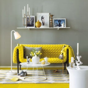 Yellow Sofa Decorating Idea