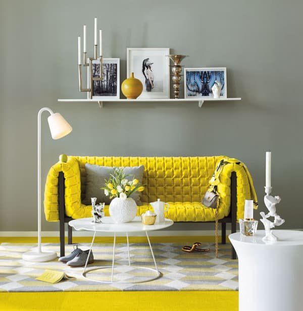 yellow sofa decorating idea 1