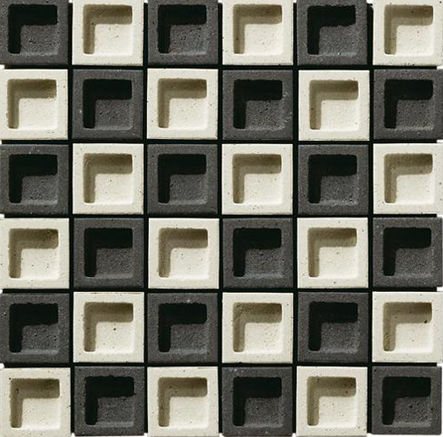 Japanese Wall Tiles Dent Cube Inax 4
