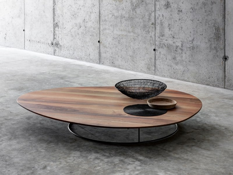 Charmant Large Low Coffee Table In Solid Wood By Fioroni