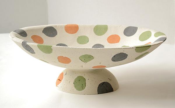 impure concrete vessel Colored Concrete Vessel by Deborah Brackenbury   multi functional outdoor / indoor vessels