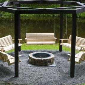 Fantastic DIY Project: Porch Swings around a Campfire