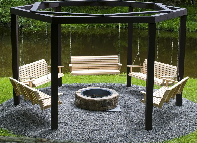 Fantastic diy project porch swings around a campfire solutioingenieria Image collections