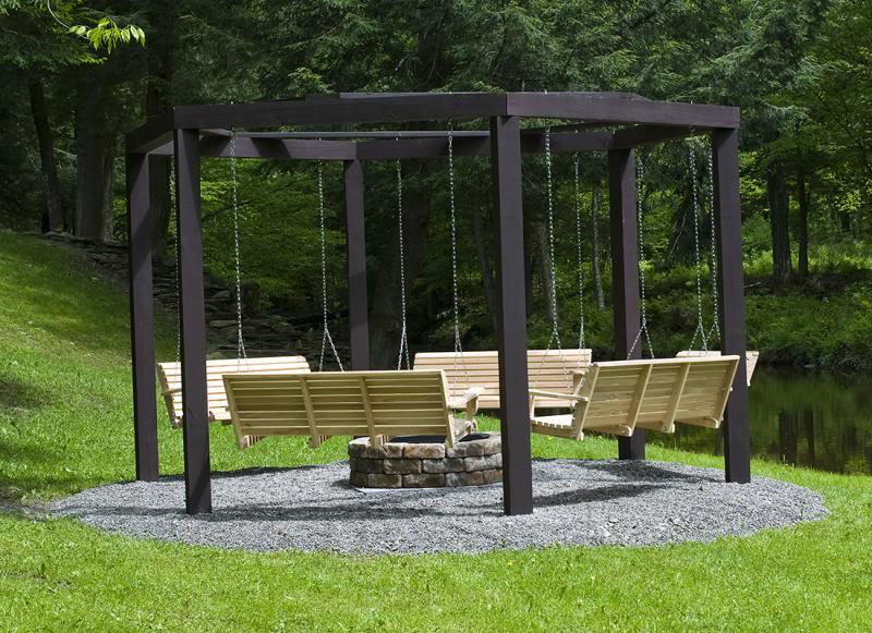 Fantastic diy project porch swings around a campfire view in gallery porch swings campfire diy 7g solutioingenieria Image collections
