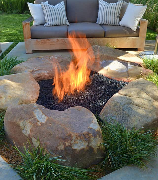 how to be creative with stone fire pit designs backyard diy
