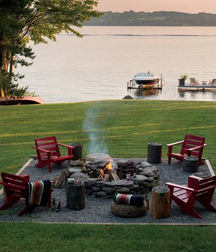 How to Be Creative with Stone Fire Pit Designs: Backyard ... on Fire Pit Design  id=89178