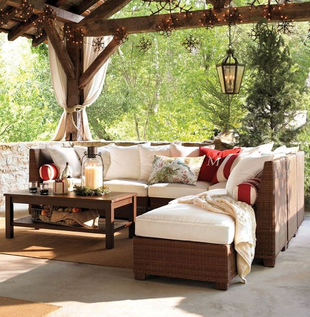 Designing Outdoor Living Room W Palmetto Sectional By