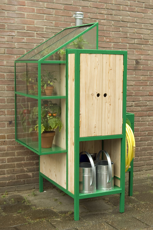 watercabinet rainwater storage system greenhouse 1 cabinet thumb 630x941 17604 The Watercabinet Is A Rainwater Storage System And Greenhouse