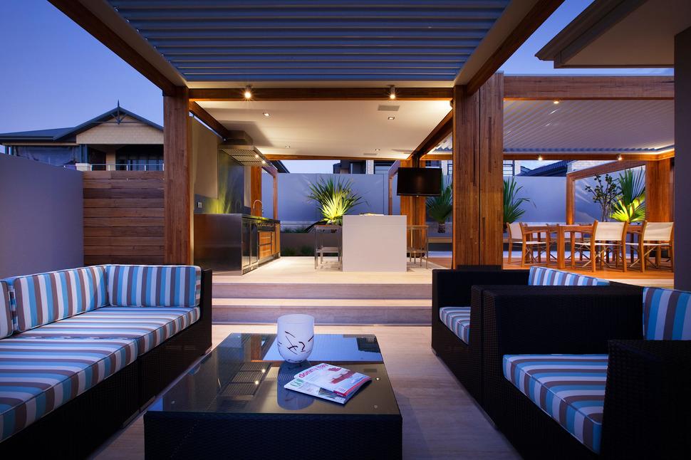 Massively Modern Timber Terraces Extend Australian Home