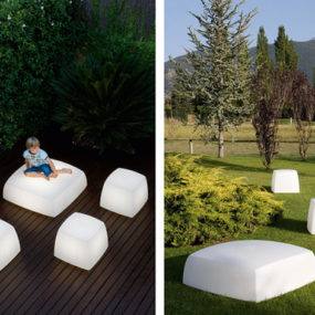 Outdoor Floor Lighting from Carpyen – Lite Cube and Lite Box lights are also seats