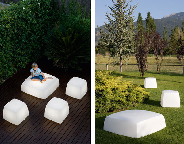 carpyen outdoor floor lighting lite cube Outdoor Floor Lighting from Carpyen   Lite Cube and Lite Box lights are also seats