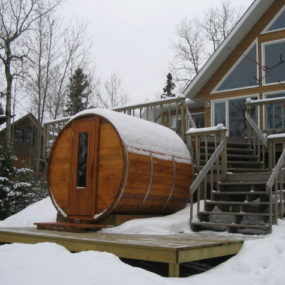 Cedar Barrel Sauna – outdoor sauna from Northern Lights