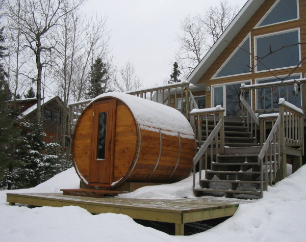 Cedar Barrel Sauna Outdoor Sauna From Northern Lights