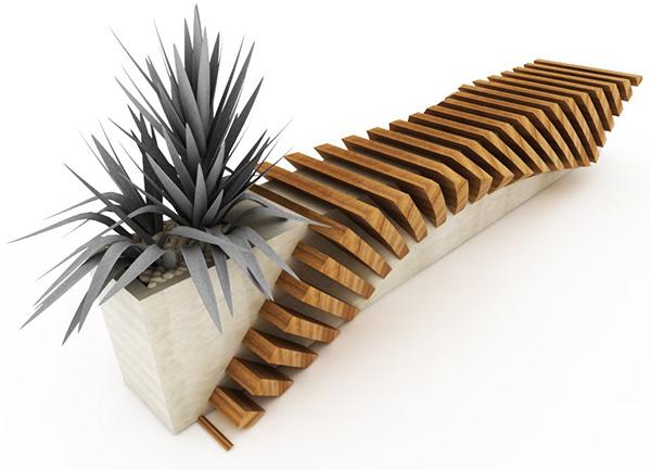 cisca urban seat 1 Urban Bench with a Planter by Juampi Sammartino