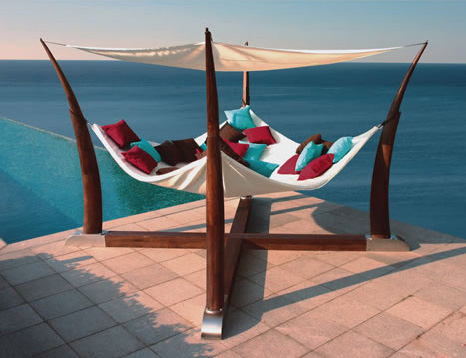 cocoon hammock terrace base henry hall designs Cocoon Hammock with Terrace Base