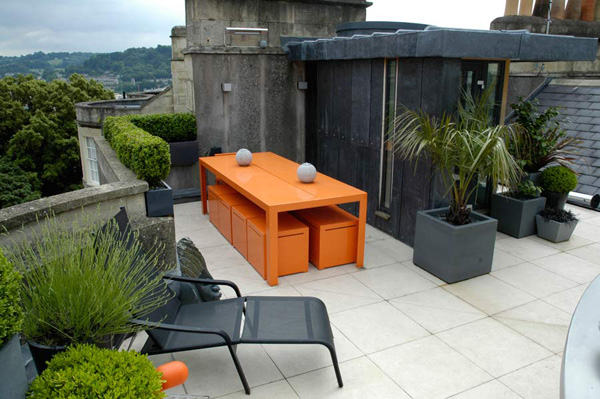 Wonderful Contemporary Urban Rooftop Garden Design