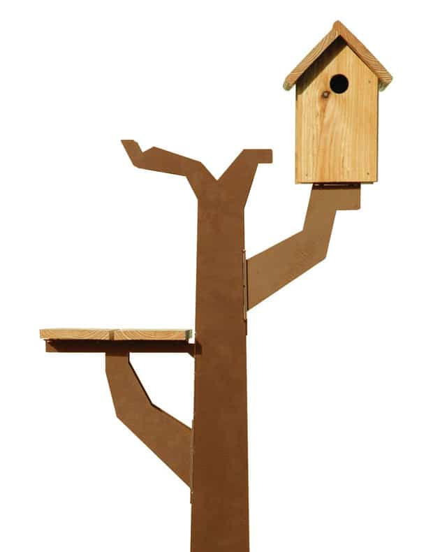 corten steel birds tree house by maandag birdtreehut 2 Corten Steel Birds Tree House by Maandag: Birdtreehut