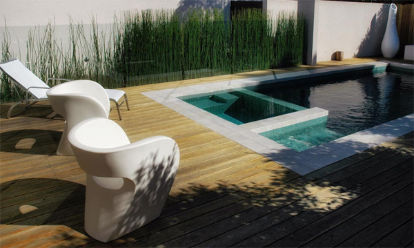 cozy compact modern pool design eckersley garden architecture 1 Cozy Compact Modern Pool Design