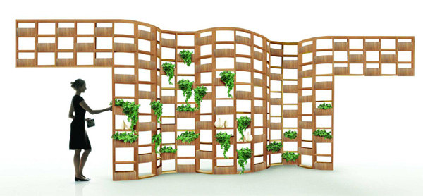 deesawat outdoor furniture green wall 1 Wooden Outdoor Furniture Designs by Deesawat   Green Wall, Stick Up, Summer Cabana