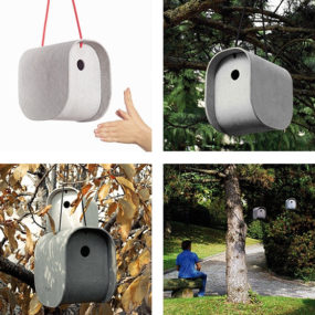 Modern Birdy Nest Box from Eternit