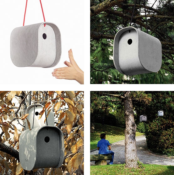 eternit birdy nest box Modern Birdy Nest Box from Eternit