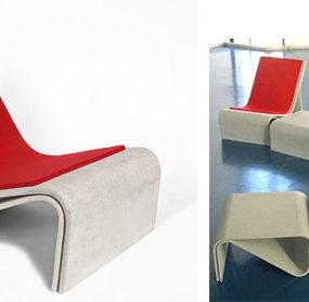 Fiber Cement Outdoor Chair from Eternit – Sponeck