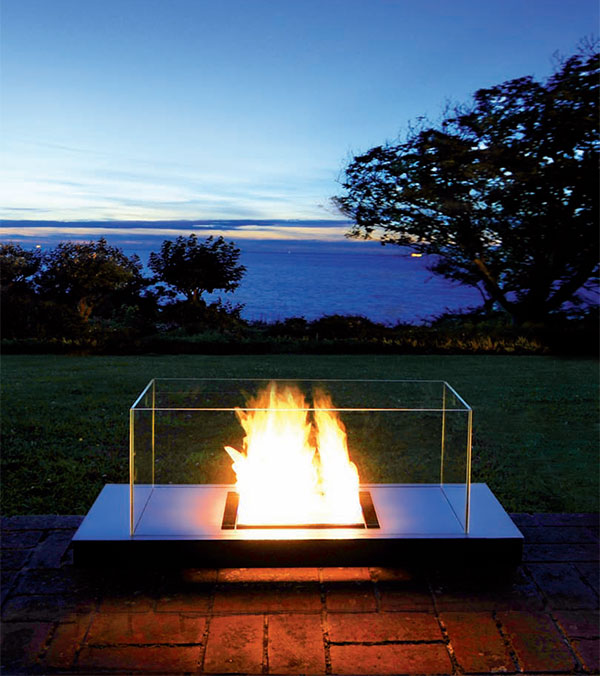 ethanol fireplace radius design uni flame Ethanol Fireplace from Radius Design