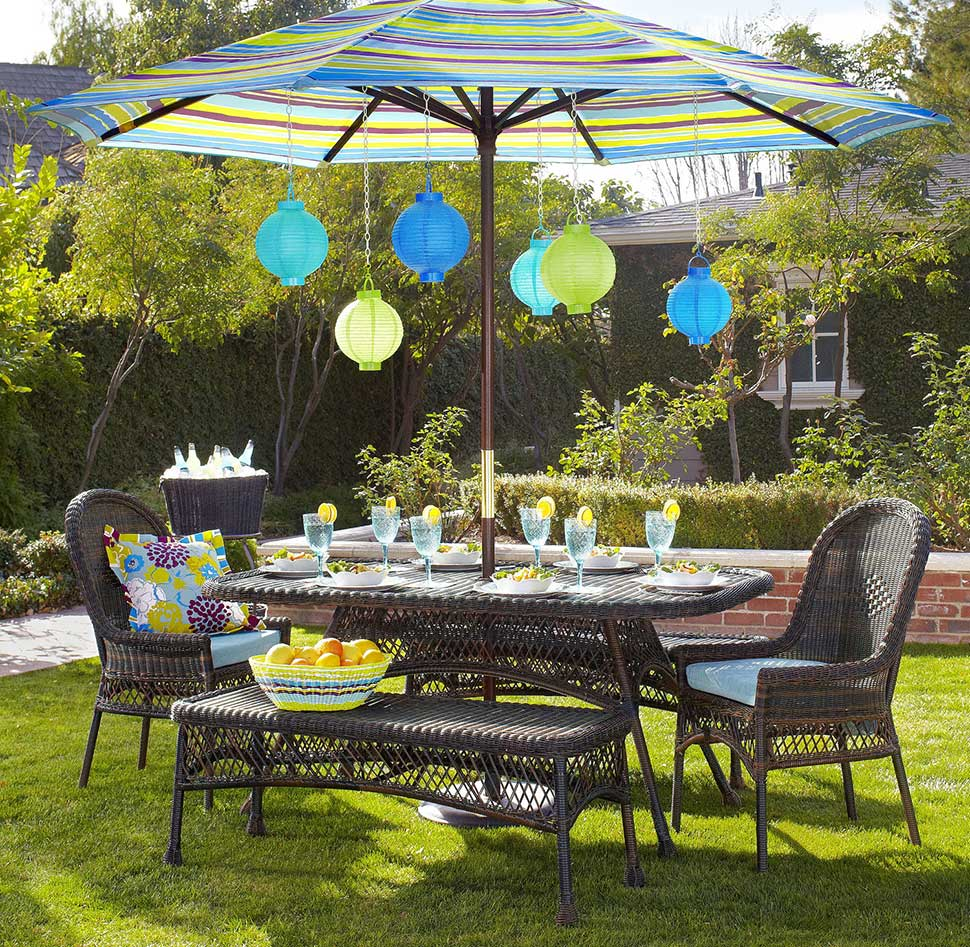 Wicker in colors garden decor inspirations by pier1 for Outdoor patio accessories