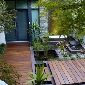 Eco-friendly Water Features by H20 Designs utilise recycled rainwater