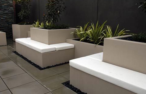 h2o designs rooftop landscaping benches