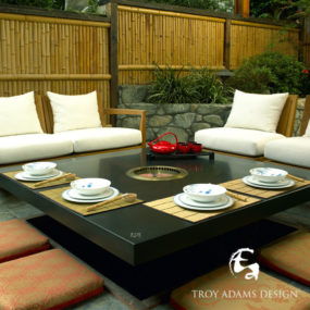 Home Tepanyaki Grill Table – indoor outdoor grill cooktop by Troy Adams Design
