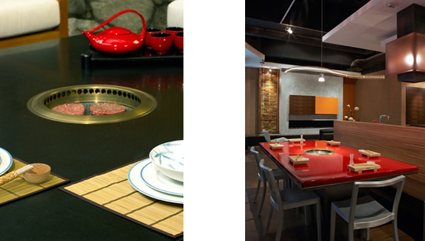 home tepanyaki grill table troy adams 2 Home Tepanyaki Grill Table   indoor outdoor grill cooktop by Troy Adams Design