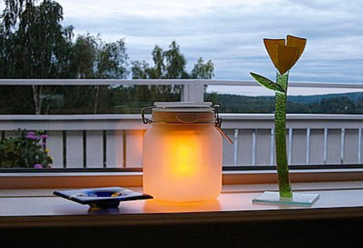 inhabitots moon jar 2 Jar Solar Powered Lamp