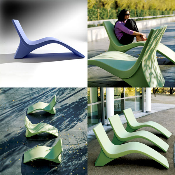 landscape forms chill 35 outdoor chaise lounge  Outdoor Chaise Lounge Chill 35 from Landscape Forms   a cool way to lounge