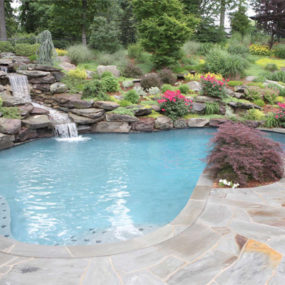 Lanscape with a Pool by B & B Pool and Spa