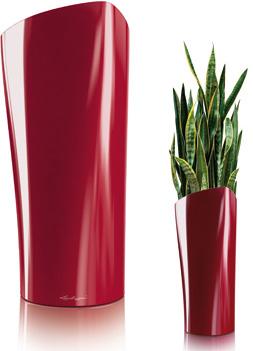 lechuza planter delta red Modern Planter Delta from Lechuza