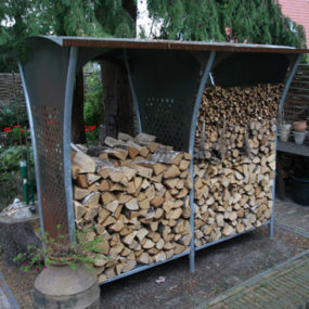 Firewood Storage Racks – Woodstocker rack by Harrie Leenders
