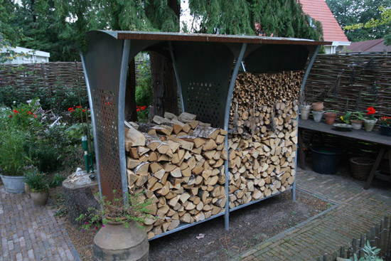 leenders firewood storage rack woodstocker 1 Firewood Storage Racks   Woodstocker rack by Harrie Leenders