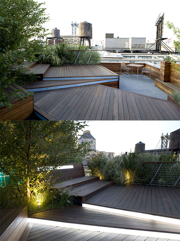 Illuminated Rooftop Terrace Is An Urban Roofscape By Landscape Architect Terrain Nyc
